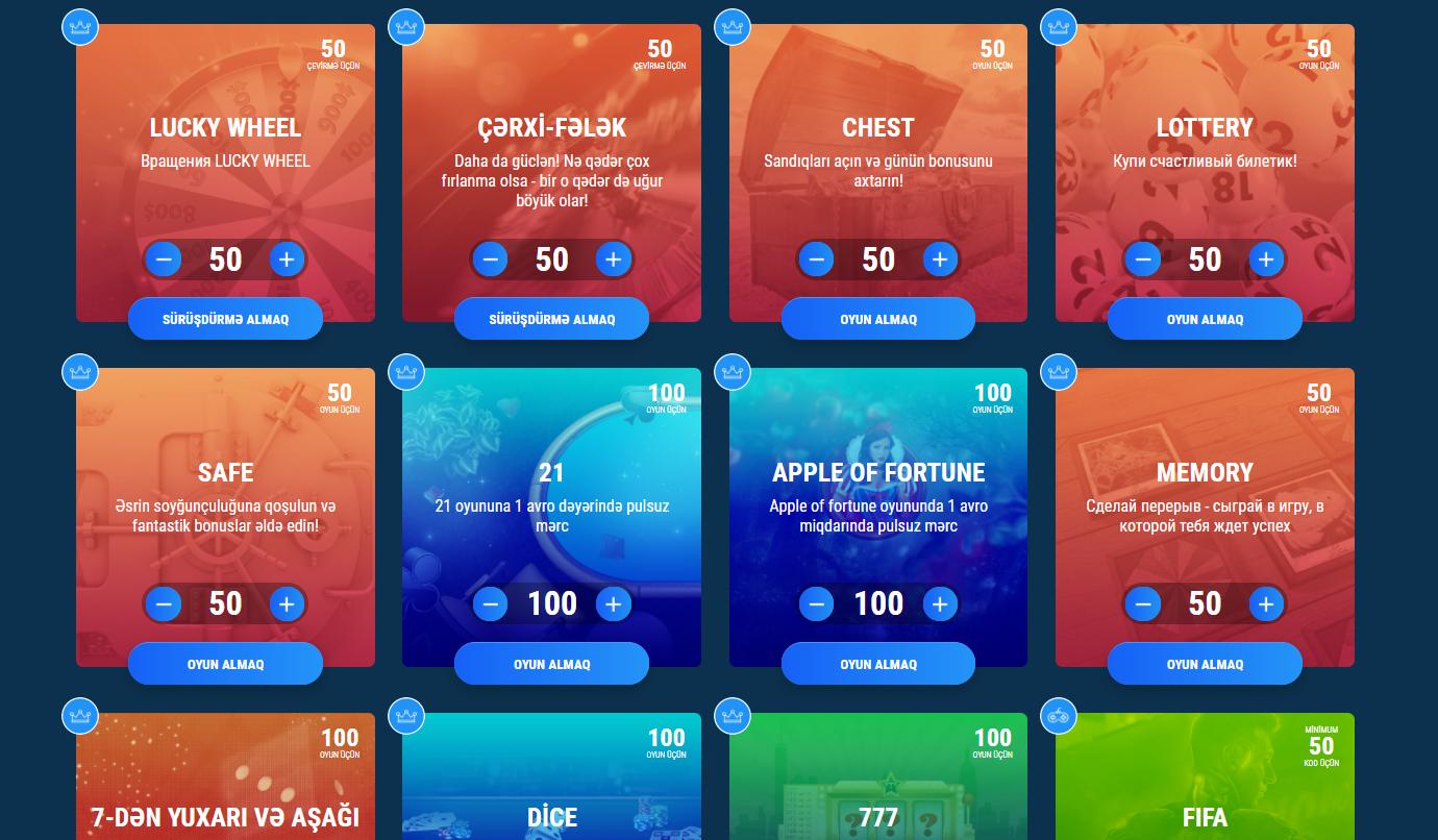 1xBet üçün təqdimat kodu üçün aksiyalar və bonuslar